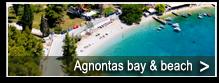 Bucht und Strand von Agnonta